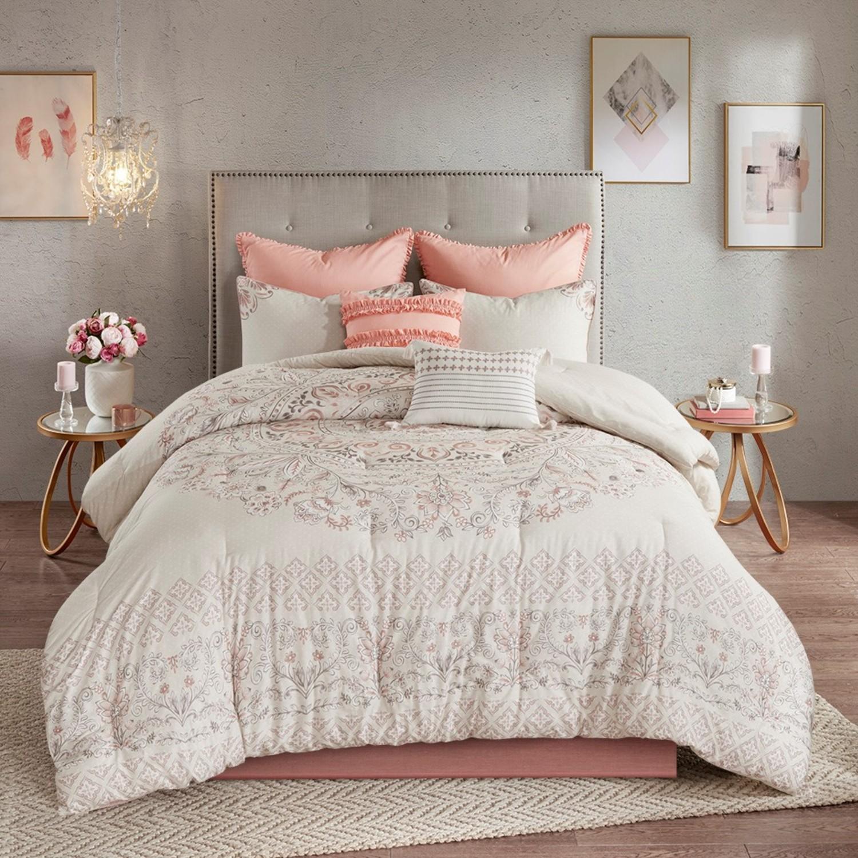 Elise Blush 8 Piece Comforter Set By Madison Park Beddingsuperstore Com