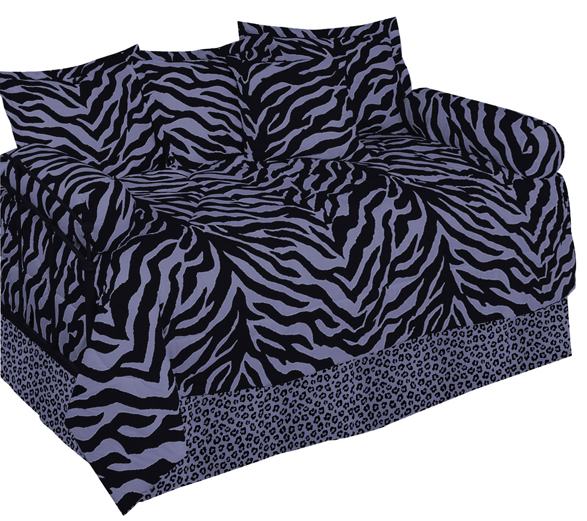 Zebra Purple Daybed Set by Karen Maki