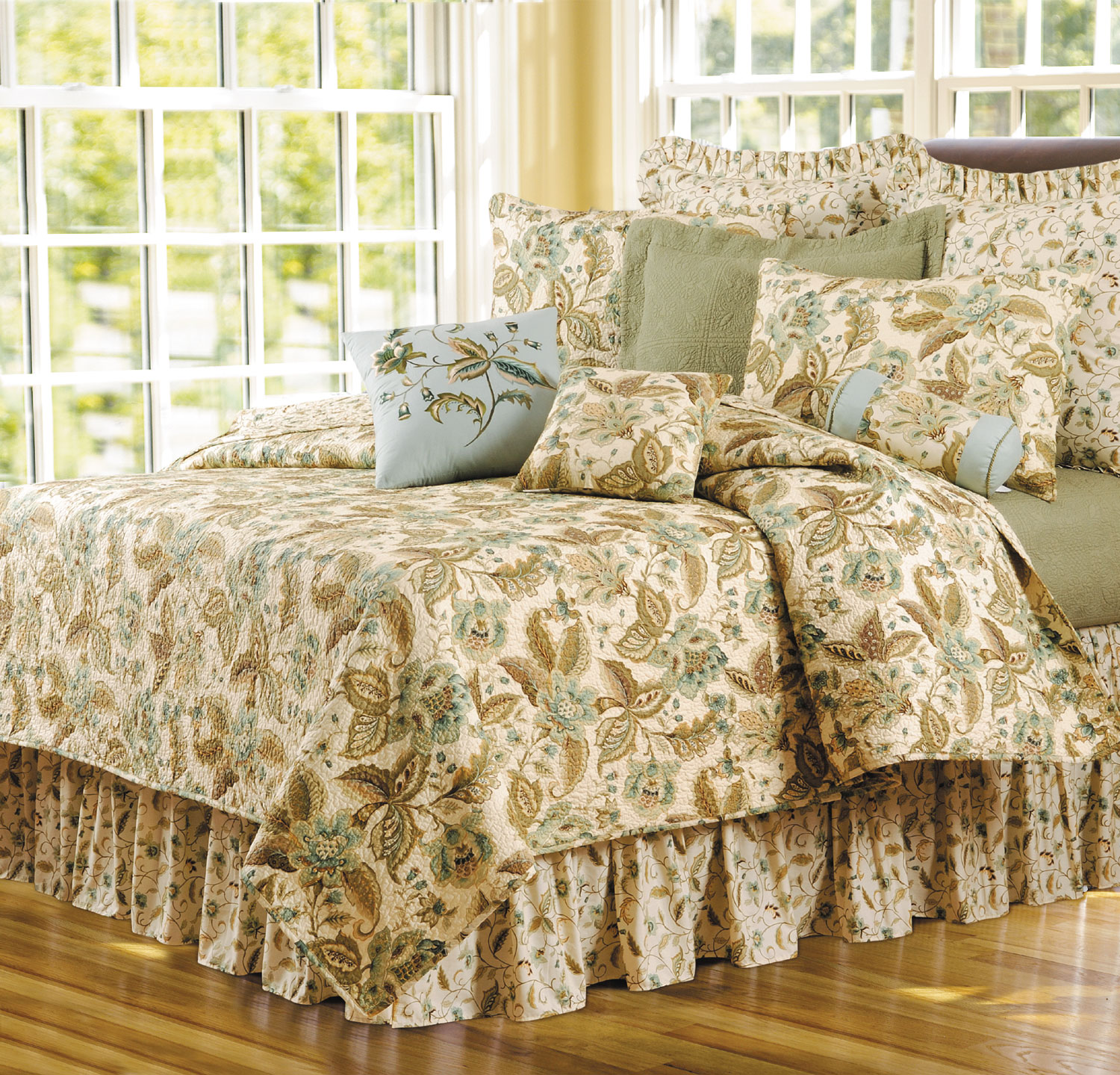 Amelia Blue By C Amp F Quilts Beddingsuperstore Com