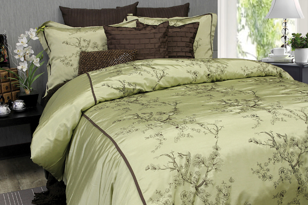 Silk Blossoms By Alamode Home Beddingsuperstore Com