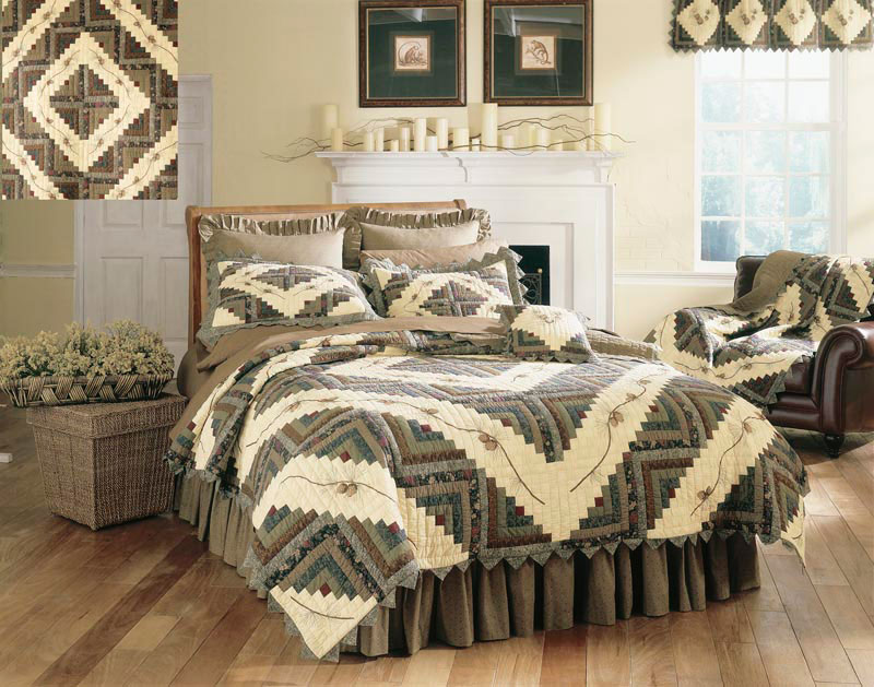 Barn Raising Pine Cone By Donna Sharp Quilts