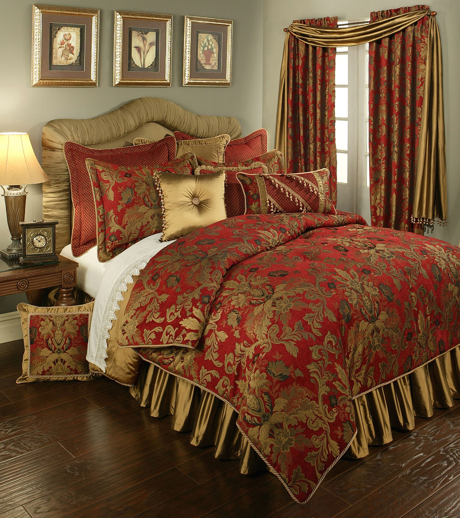 Verona Red By Austin Horn Luxury Bedding