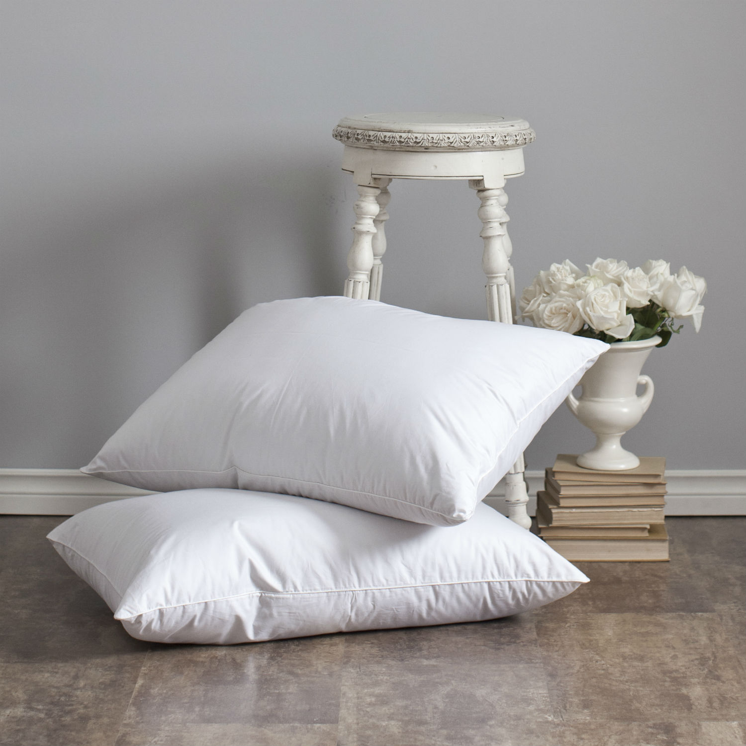Heirloom White Goose Down Sleeping Pillow By St Geneve