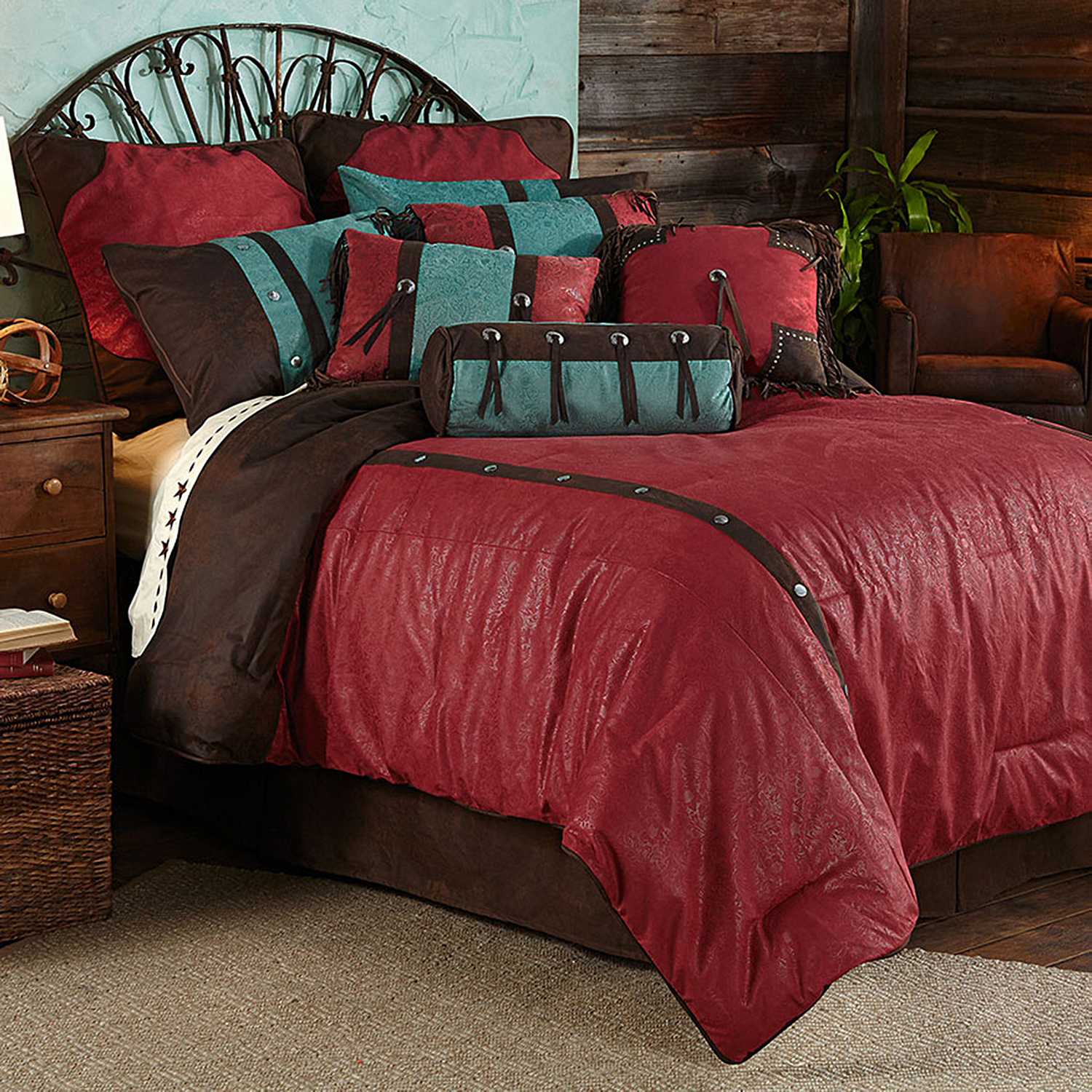 Cheyenne Red By Hiend Accents Homemax By Hiend Accents Beddingsuperstore Com