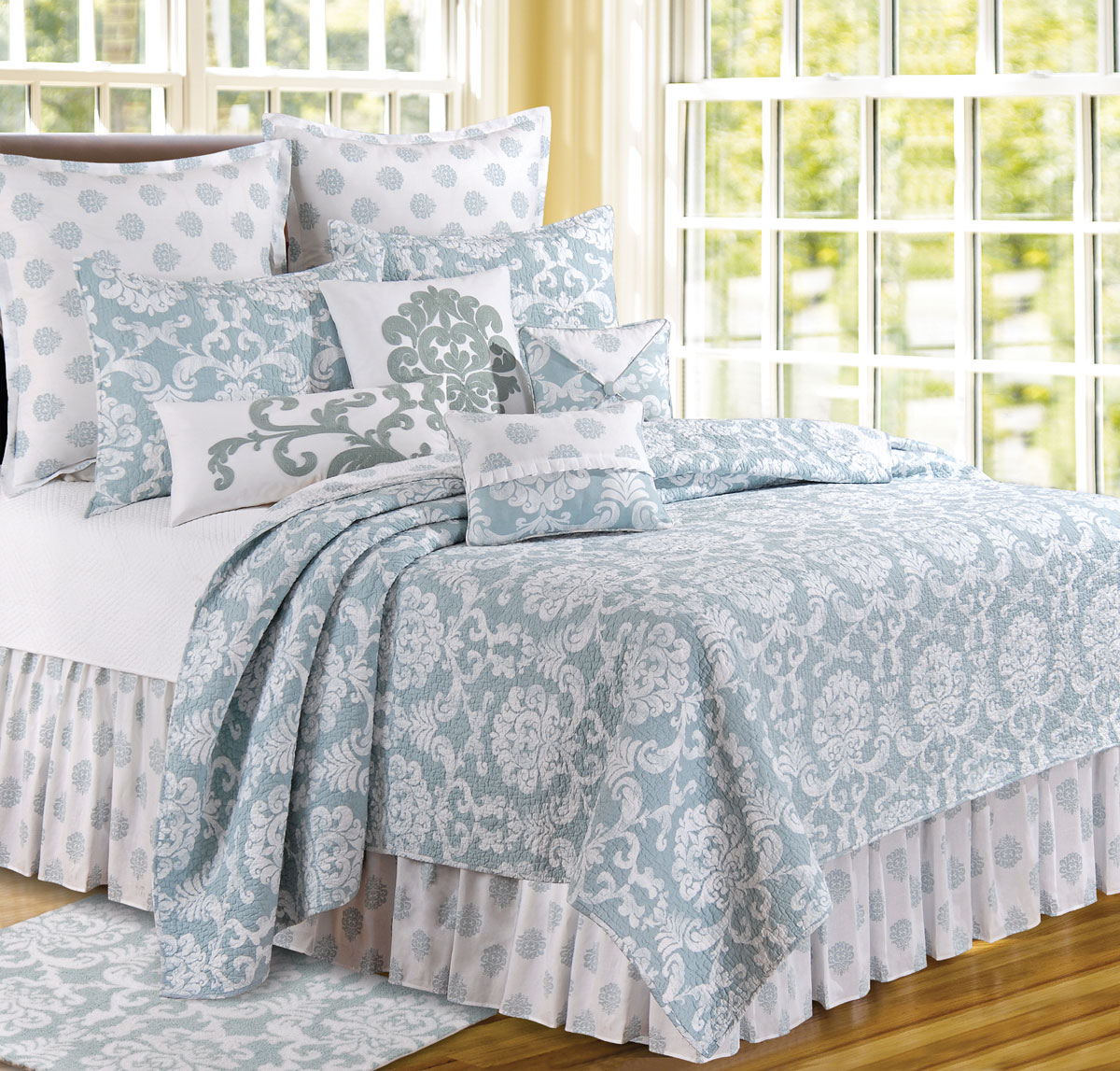 Providence Bedroom Furniture Providence Chambray By Cf Quilts Beddingsuperstorecom