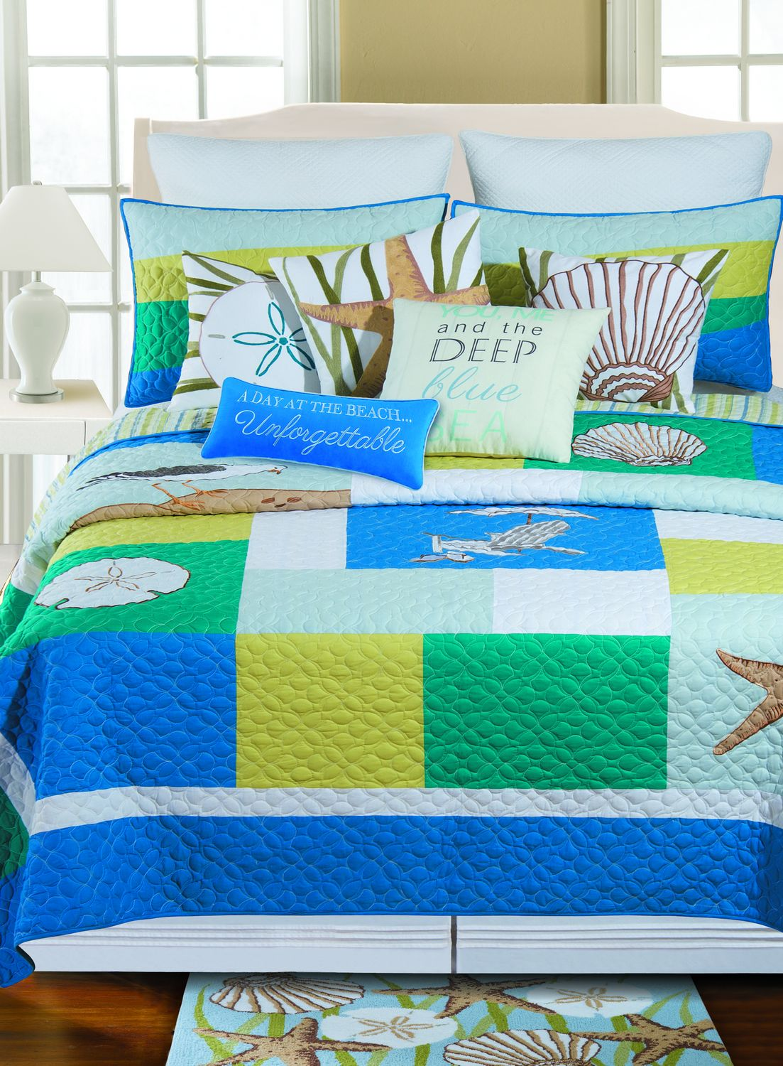 Blue Oasis By C Amp F Quilts Beddingsuperstore Com