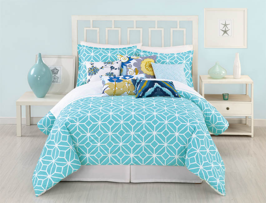 Trellis turquoise by trina turk bedding beddingsuperstore com