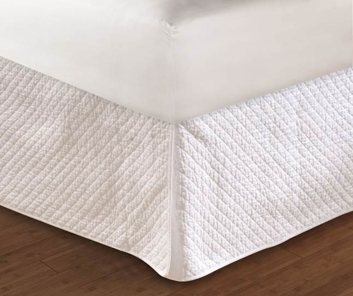 Diamond Quilted Bed Skirt By Greenland Home Fashions
