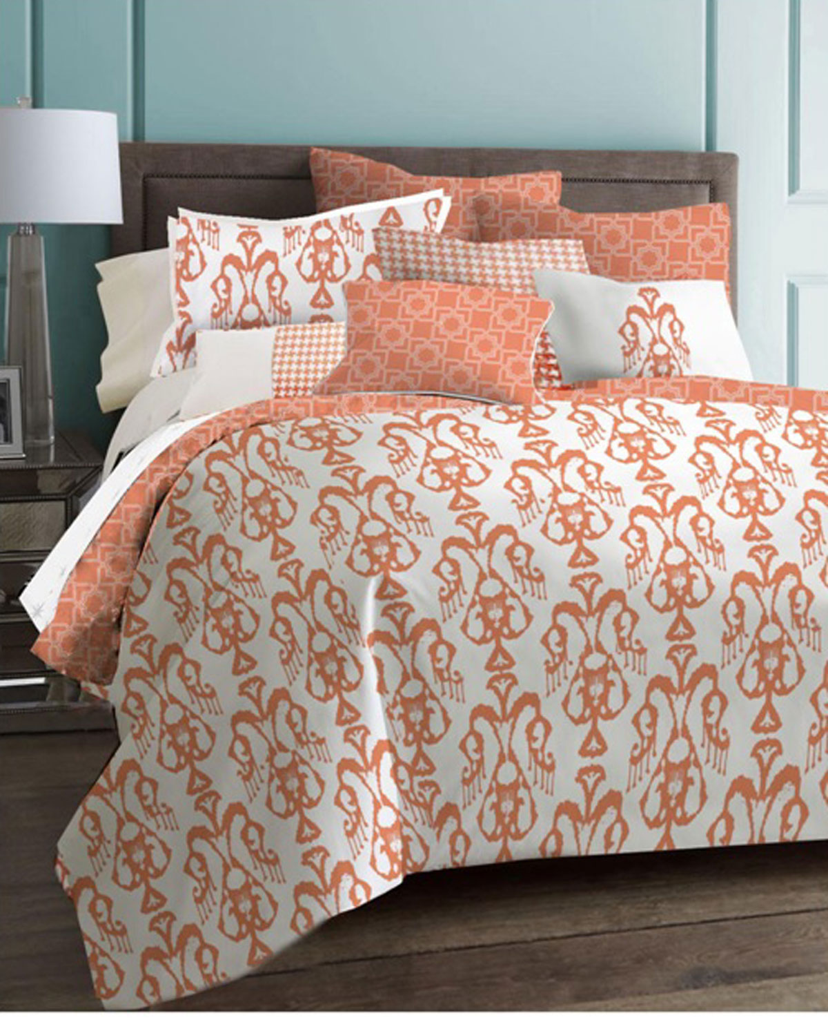 collection comforter echo coral bed bedding design set guinevere