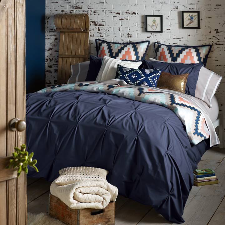 zoom in - Navy Bedding