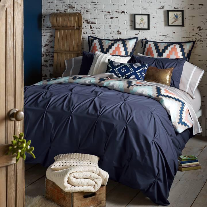 Harper Navy Blue By Blissliving Home Bedding