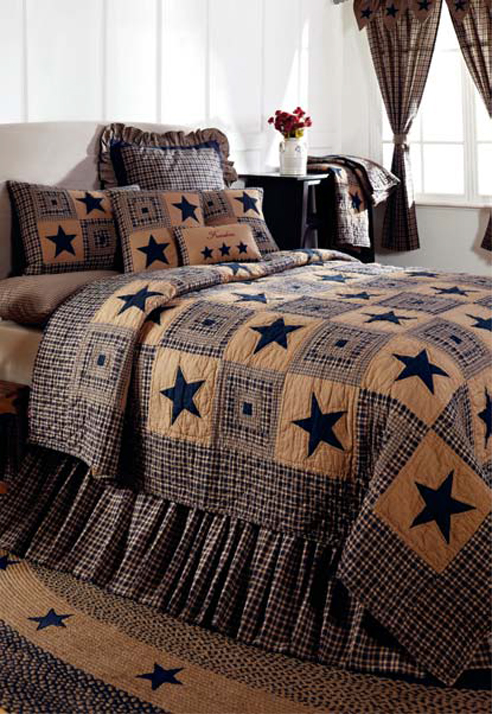 Vintage Star Navy By Ihf Home Decor