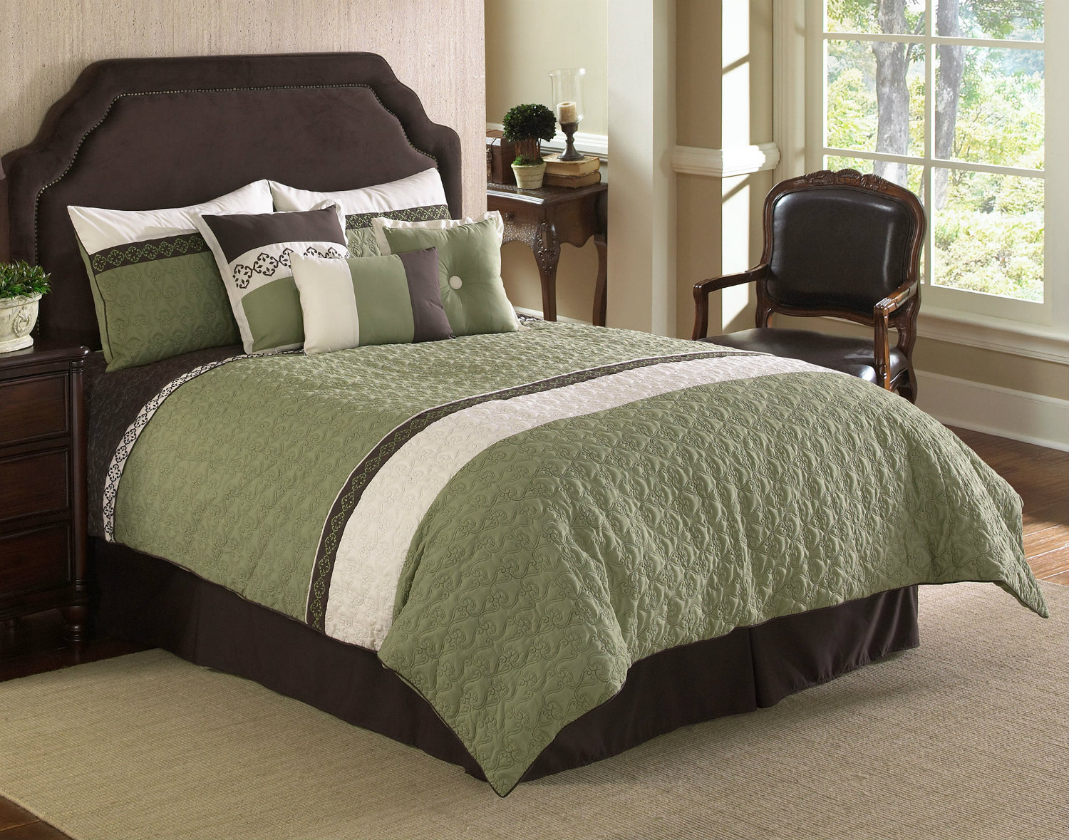 Olive Green Comforter: Frontera By Hallmart Collection By Hallmart Collection