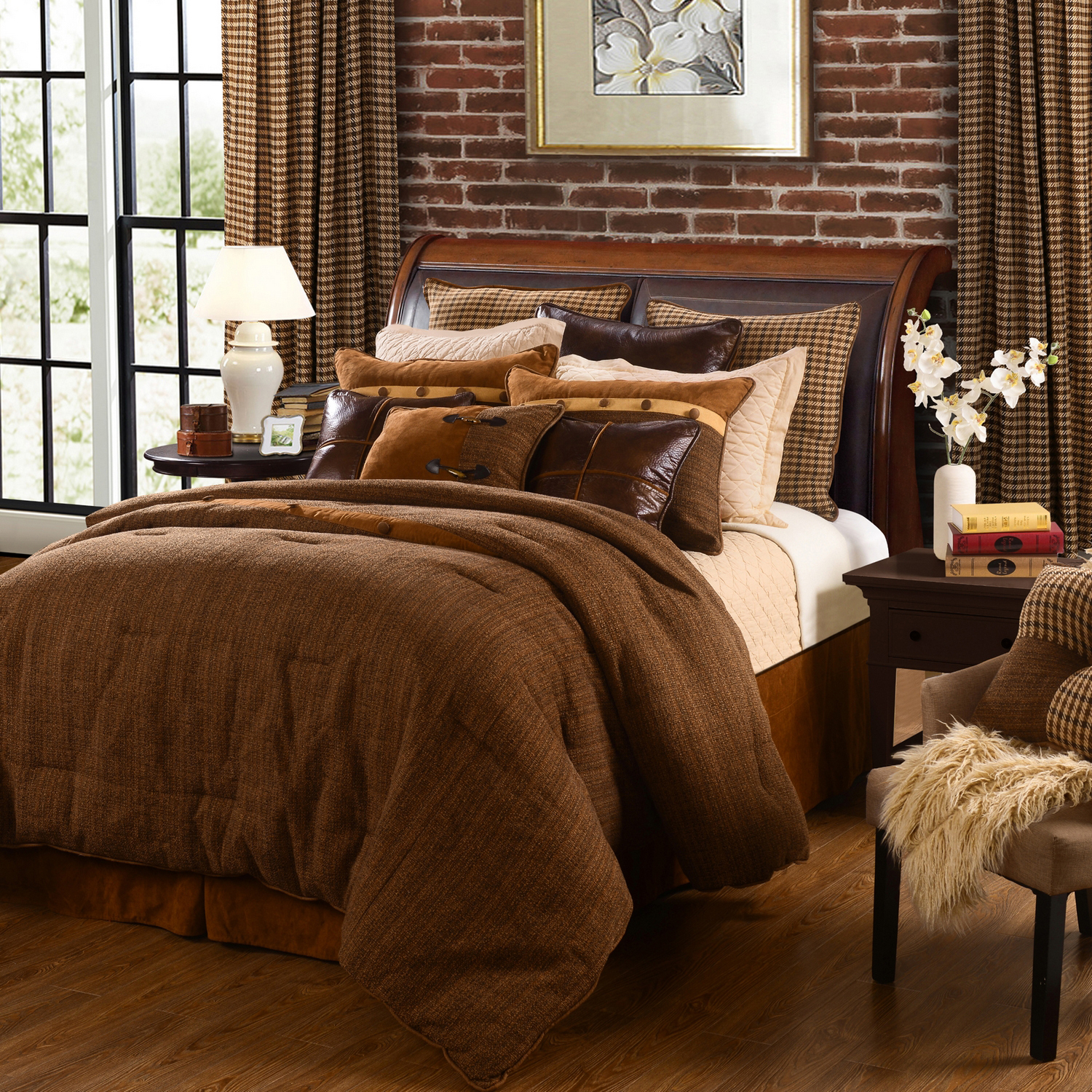 Bedding Decor: Crestwood By HiEnd Accents HomeMax By HiEnd Accents