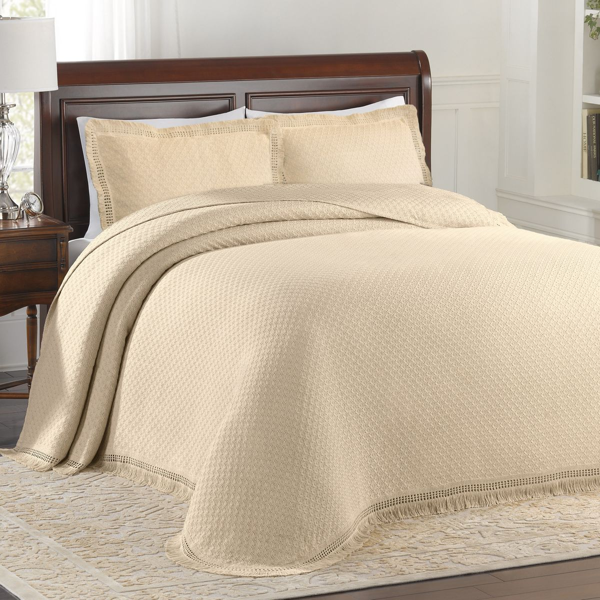 Woven Jacquard Ivory By Lamont Home Beddingsuperstore Com