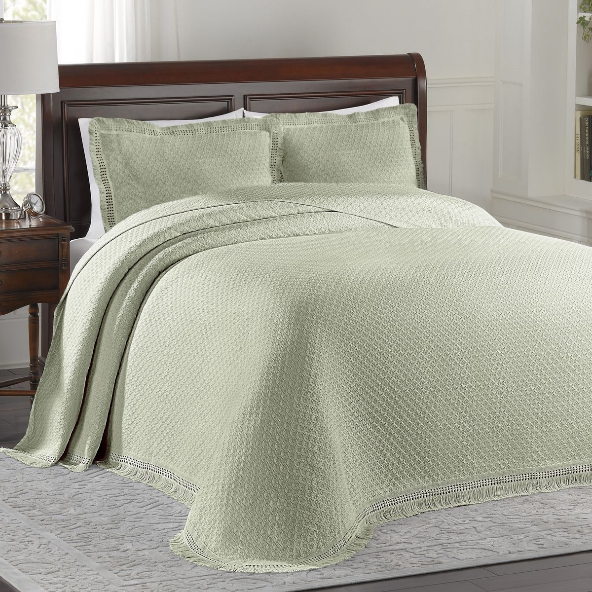 Woven Jacquard Sage By Lamont Home Beddingsuperstore Com