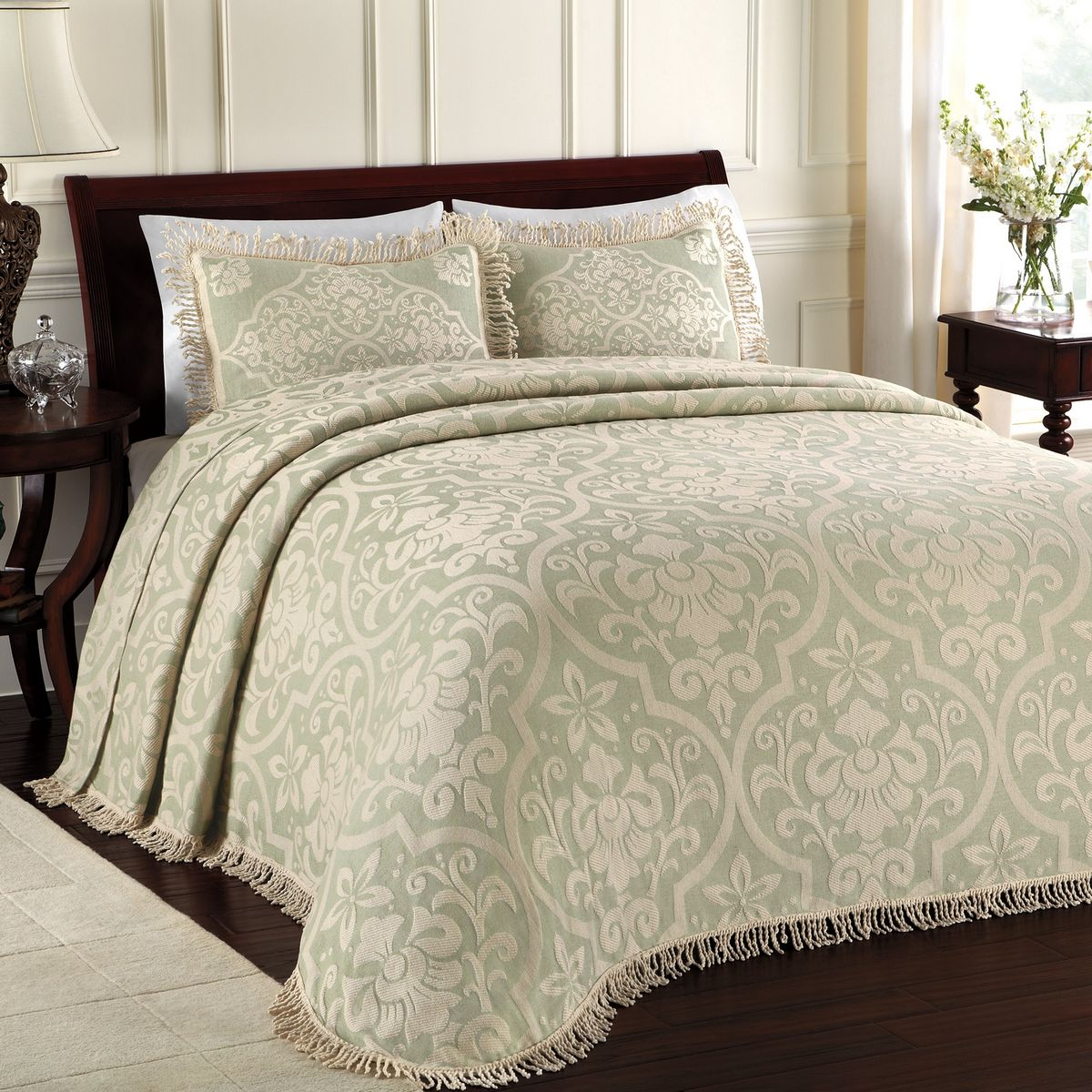 All Over Brocade Sage By Lamont Home Beddingsuperstore Com