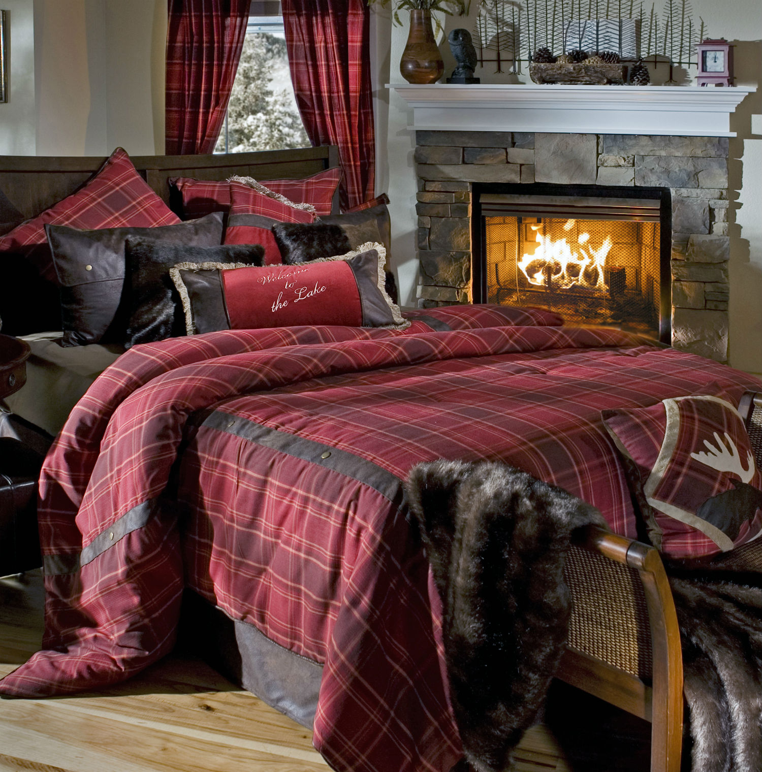 Sagamore Lake Plaid  by Carstens Lodge Bedding