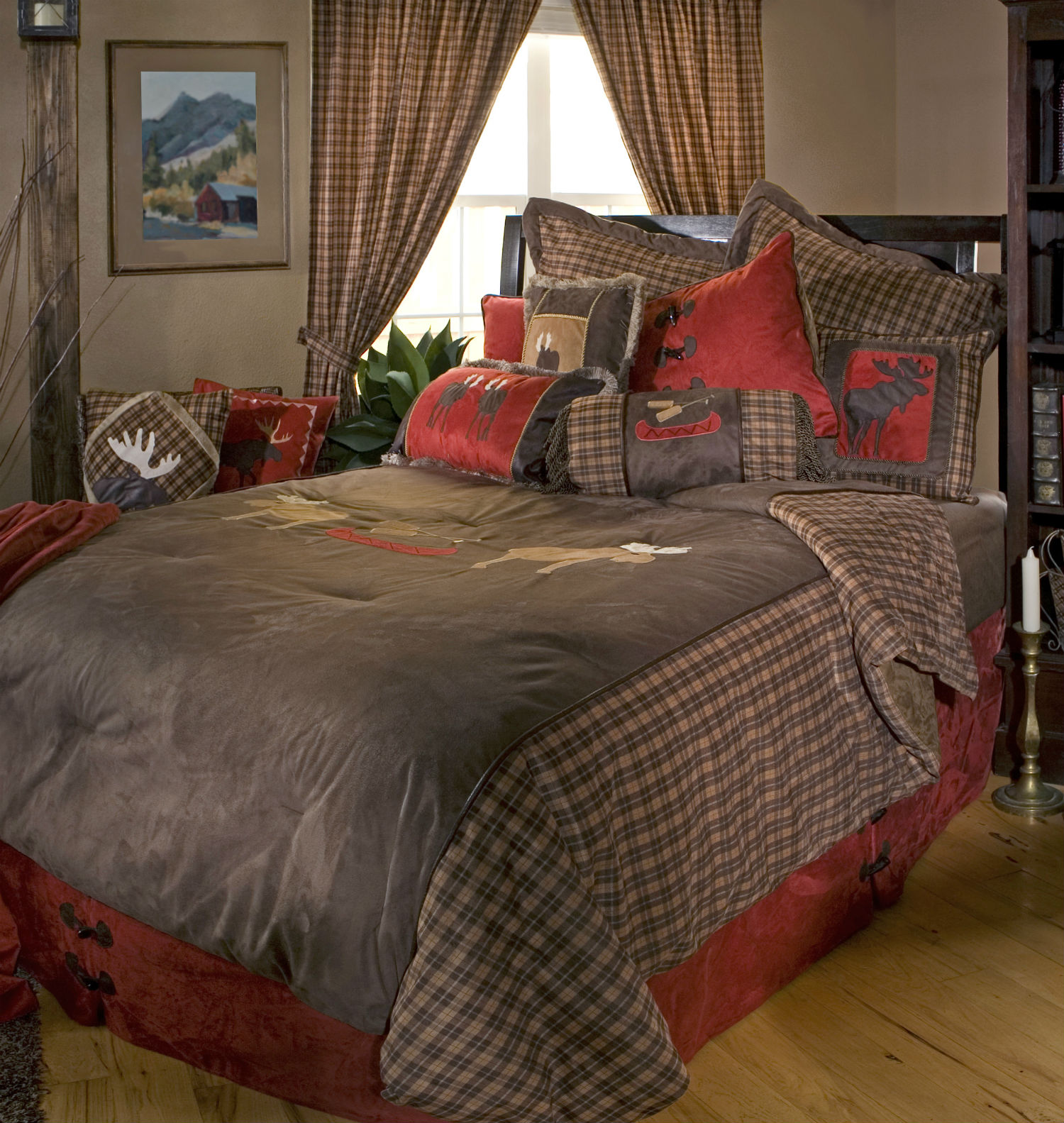 Moose Plaid By Carstens Lodge Bedding