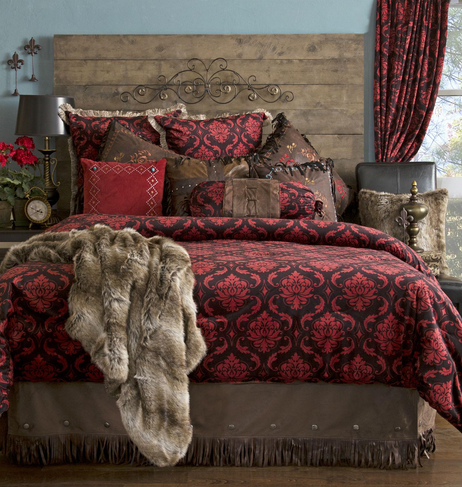 Red Damask By Carstens Lodge Bedding Beddingsuperstore Com