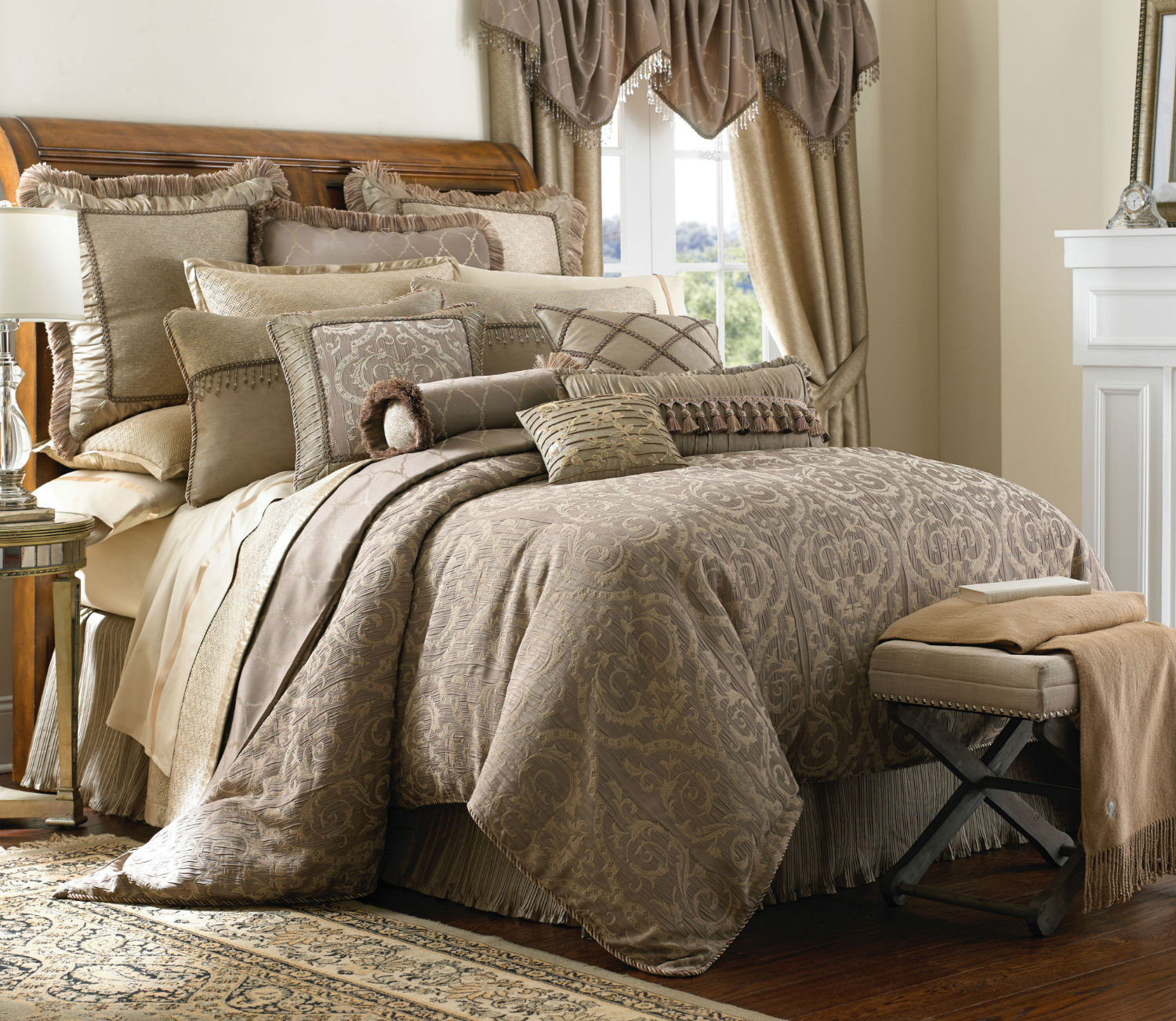 Hazeldene by waterford luxury bedding - Bedroom sheets and comforter sets ...