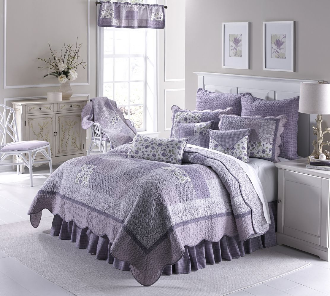 Lilac Bedroom Accessories Blue Teen Girl Bedding Sets: Lavender Rose By Donna Sharp Quilts