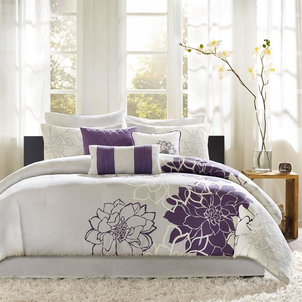 Lola Purple By Madison Park Beddingsuperstore Com
