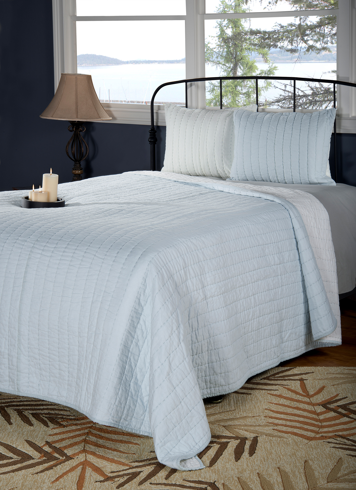 Gracie Light Blue By Rizzy Home Bedding