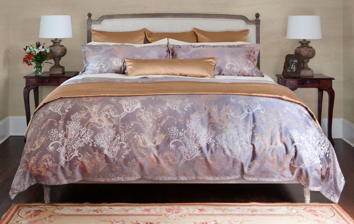 Ardere Matelasse Copper By St Geneve Luxury Bedding