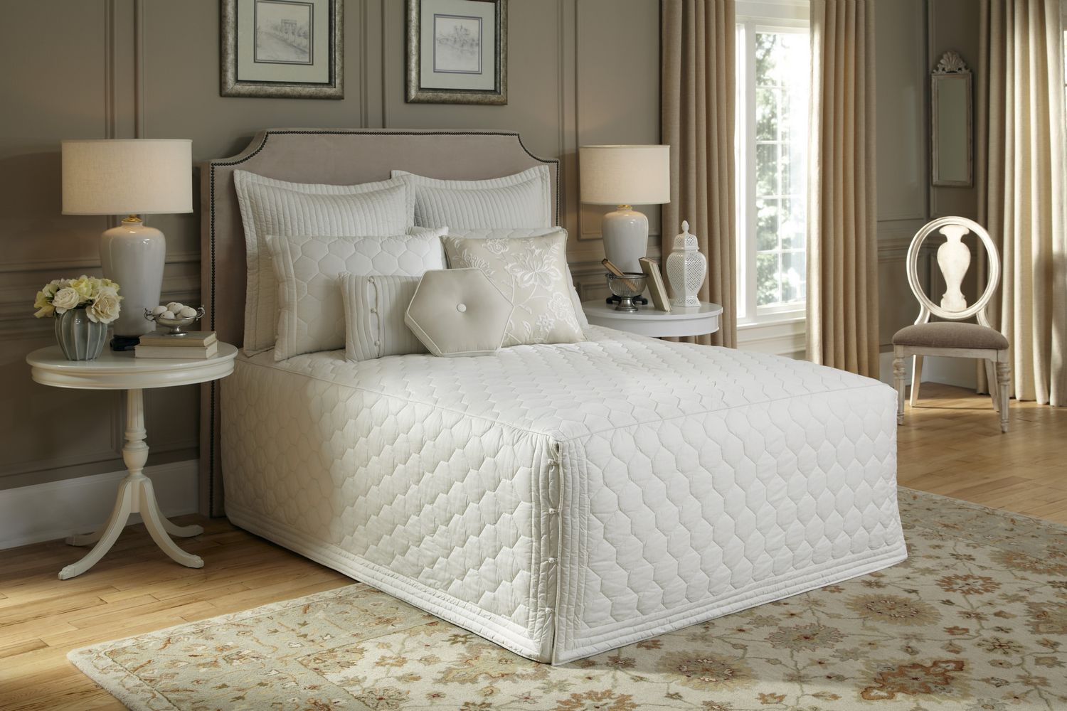 Lexington Ivory Bedspread Collection By Nostalgia Heirloom