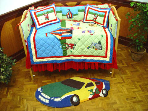 Circus Crib Bedding By Patchmagic Quilts