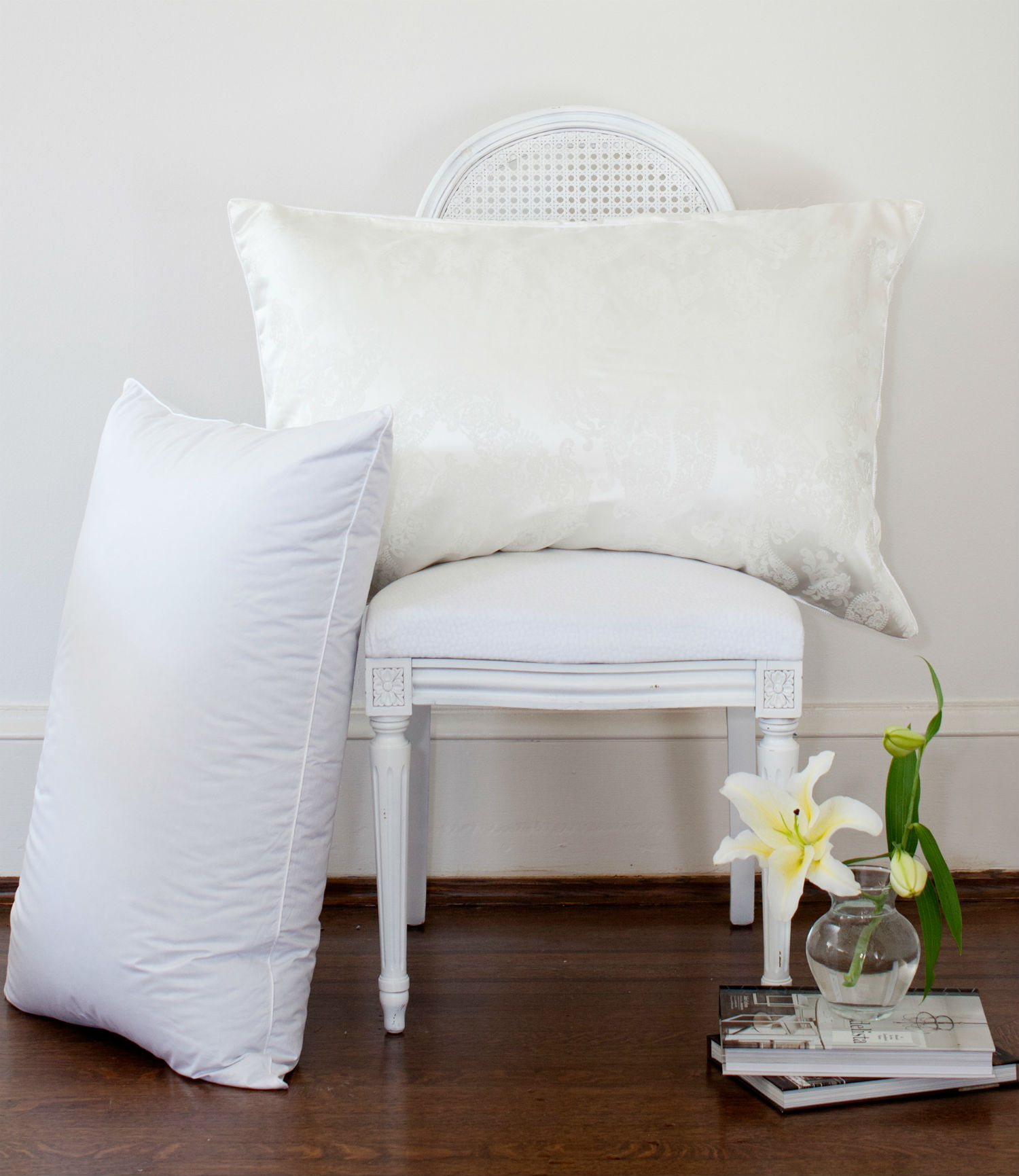 James Bay Silk Cover Pillow by St. Geneve Luxury Bedding