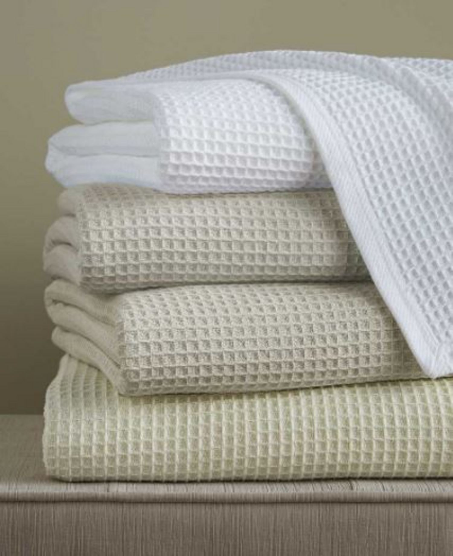 Kingston Waffle Blanket By Sferra Fine Linens