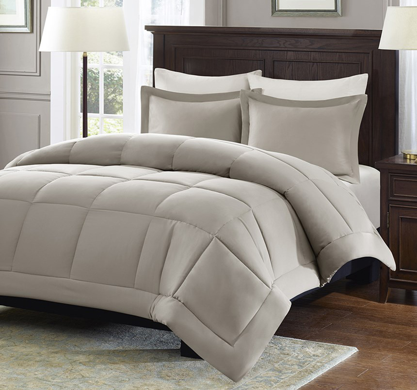 Sarasota Taupe Microcell Down Alternative By Madison Park