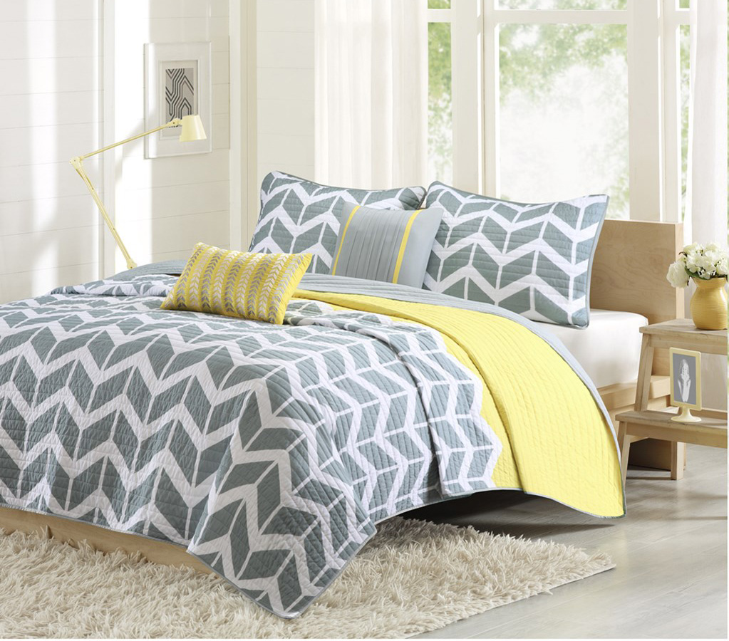 Nadia Yellow Coverlet By Intelligent Design