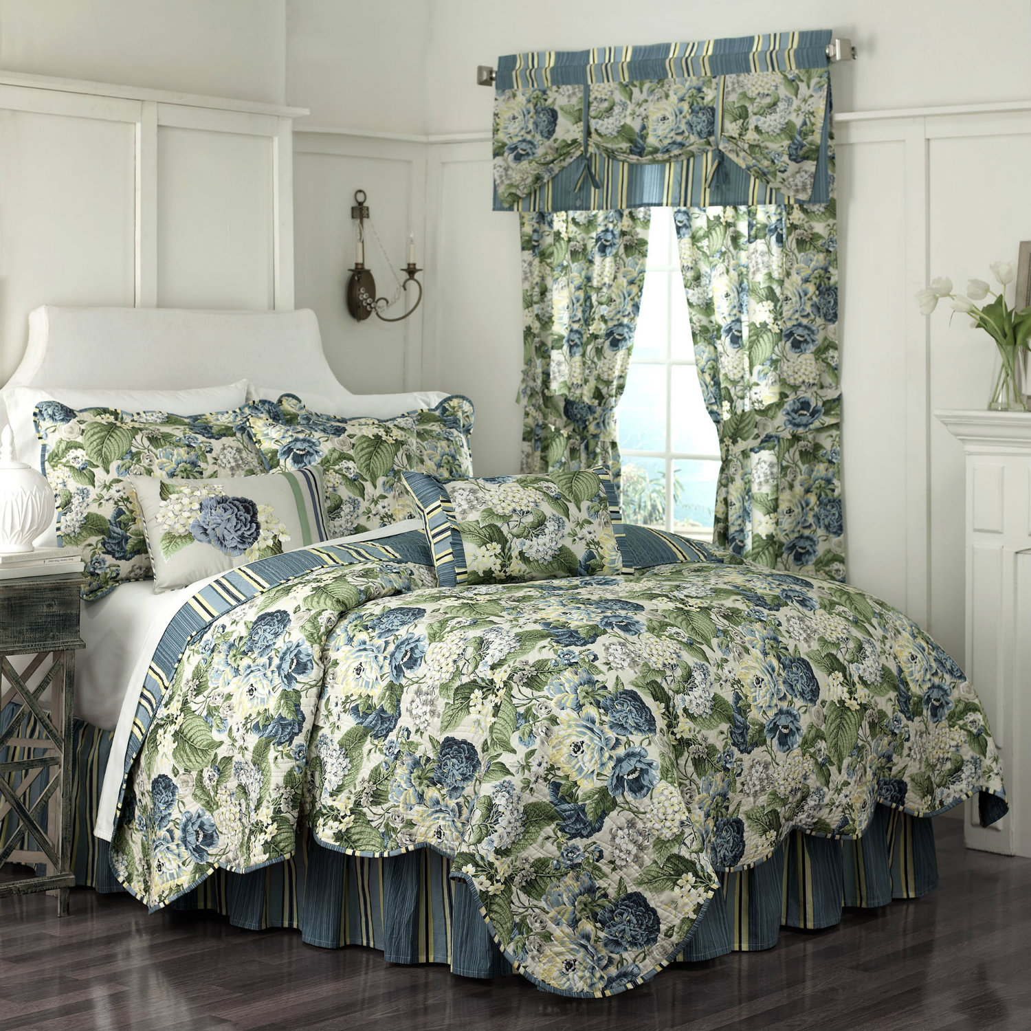 Floral flourish by waverly bedding for Bedding fabric bedding