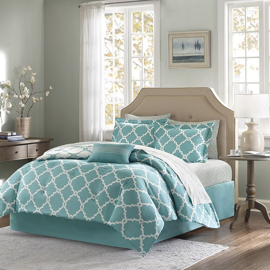 Merritt Aqua By Madison Park Beddingsuperstore Com