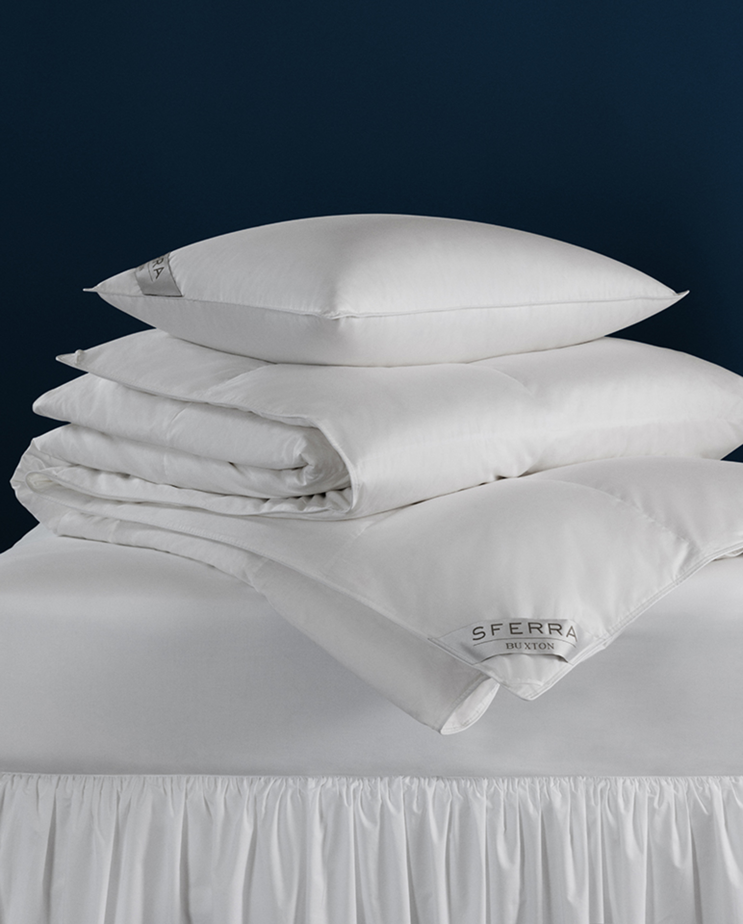 Buxton Duvets & Pillows Collection by Sferra Fine Linens