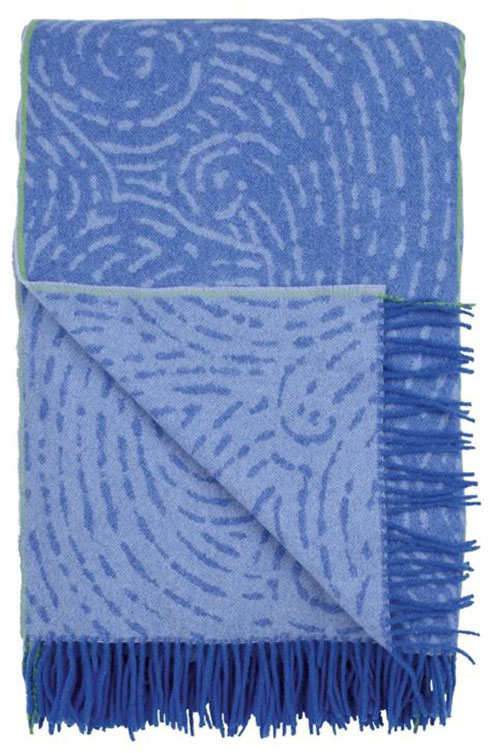 Basilica Cobalt Throw by Designers Guild