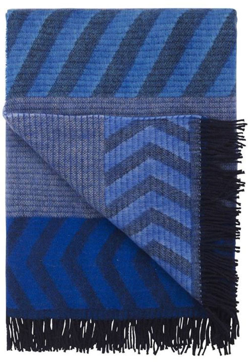 Indupala Indigo Throw by Designers Guild