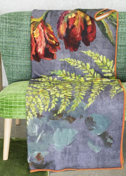 Tulipani Graphite Throw by Designers Guild