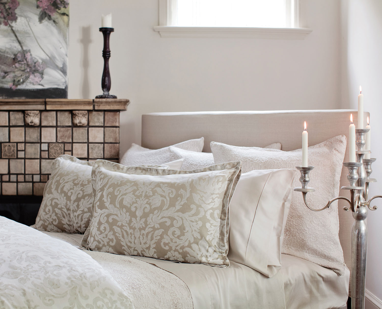Fiordaliso Natural Matelasse By St Geneve Luxury Bedding