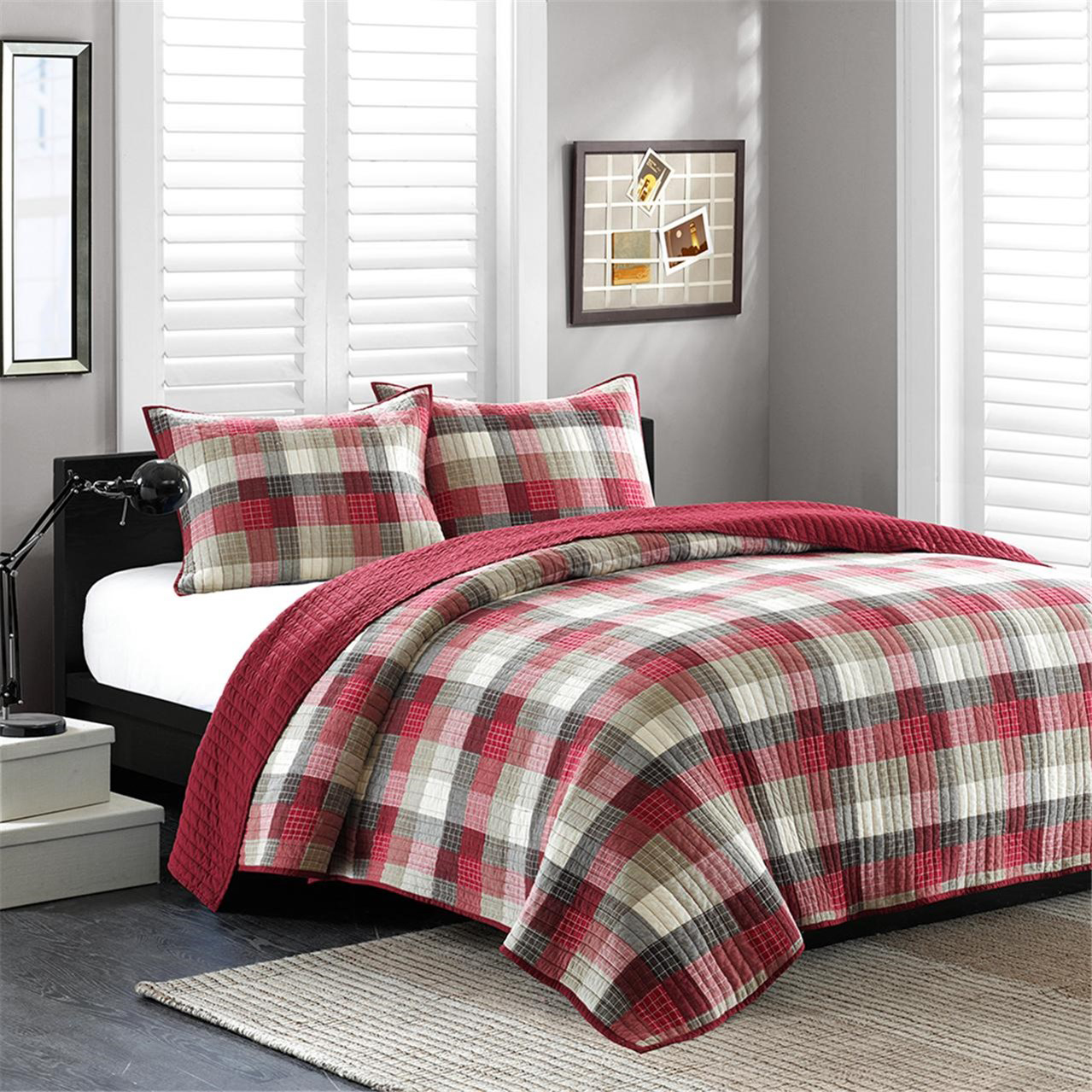 Maddox Red Coverlet By Ink Amp Ivy Bedding