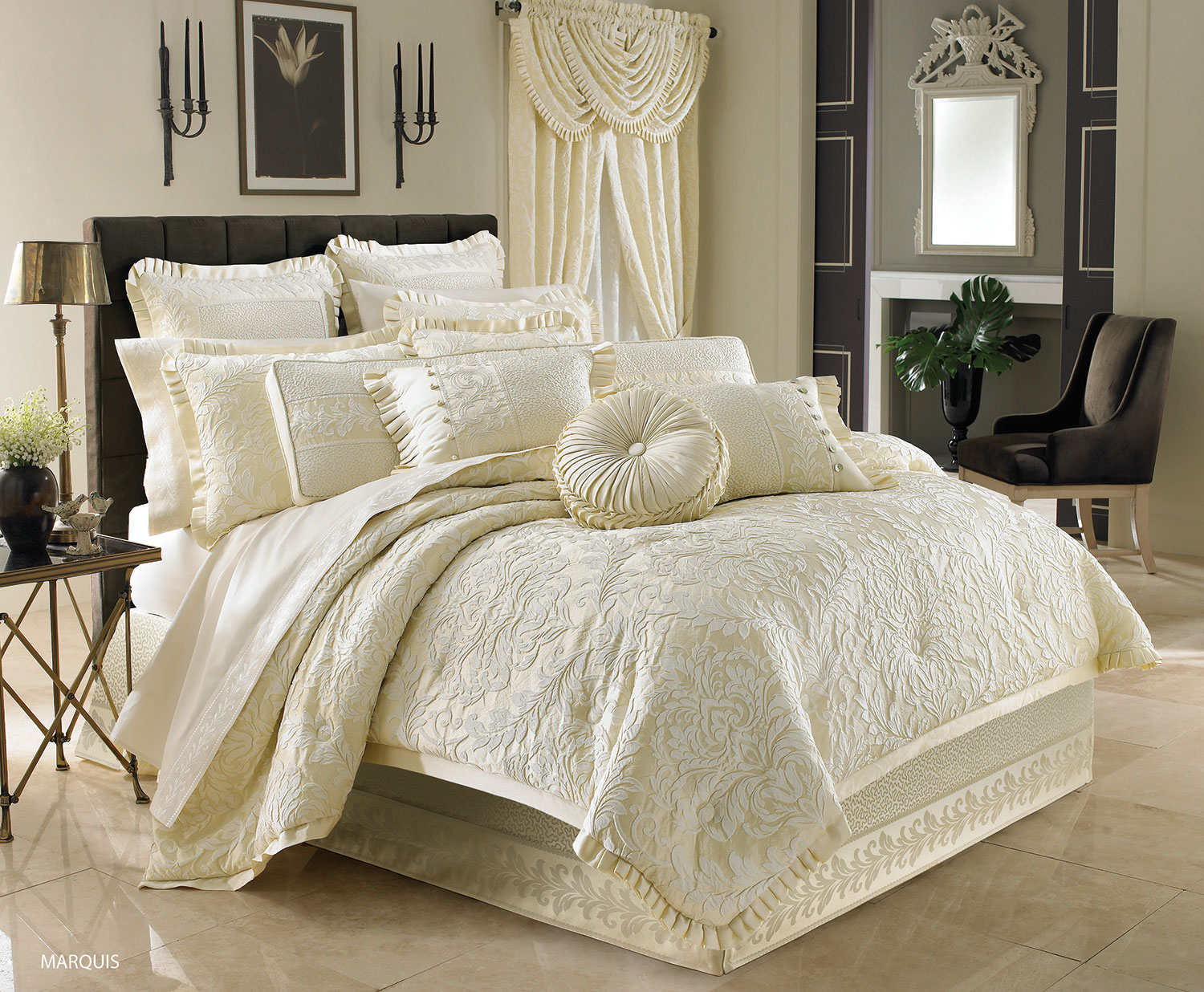 jonet comforter bedding linens p waterford by set ivory medallion