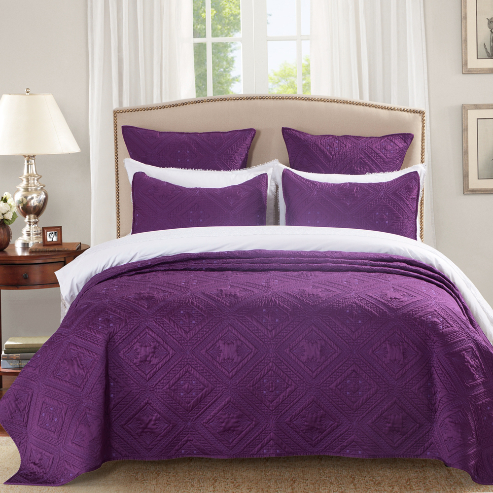 Fern Crystal Purple by Calla Angel Quilts