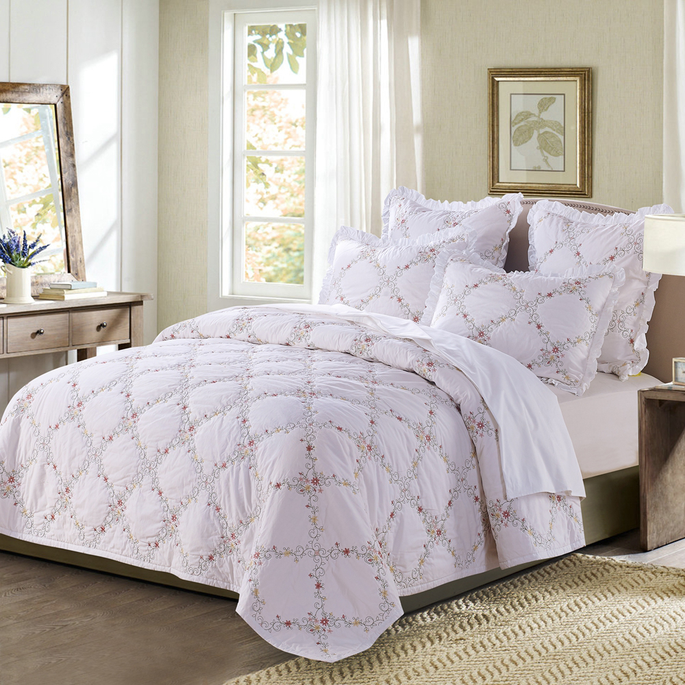 Orchard Mist White by Calla Angel Quilts