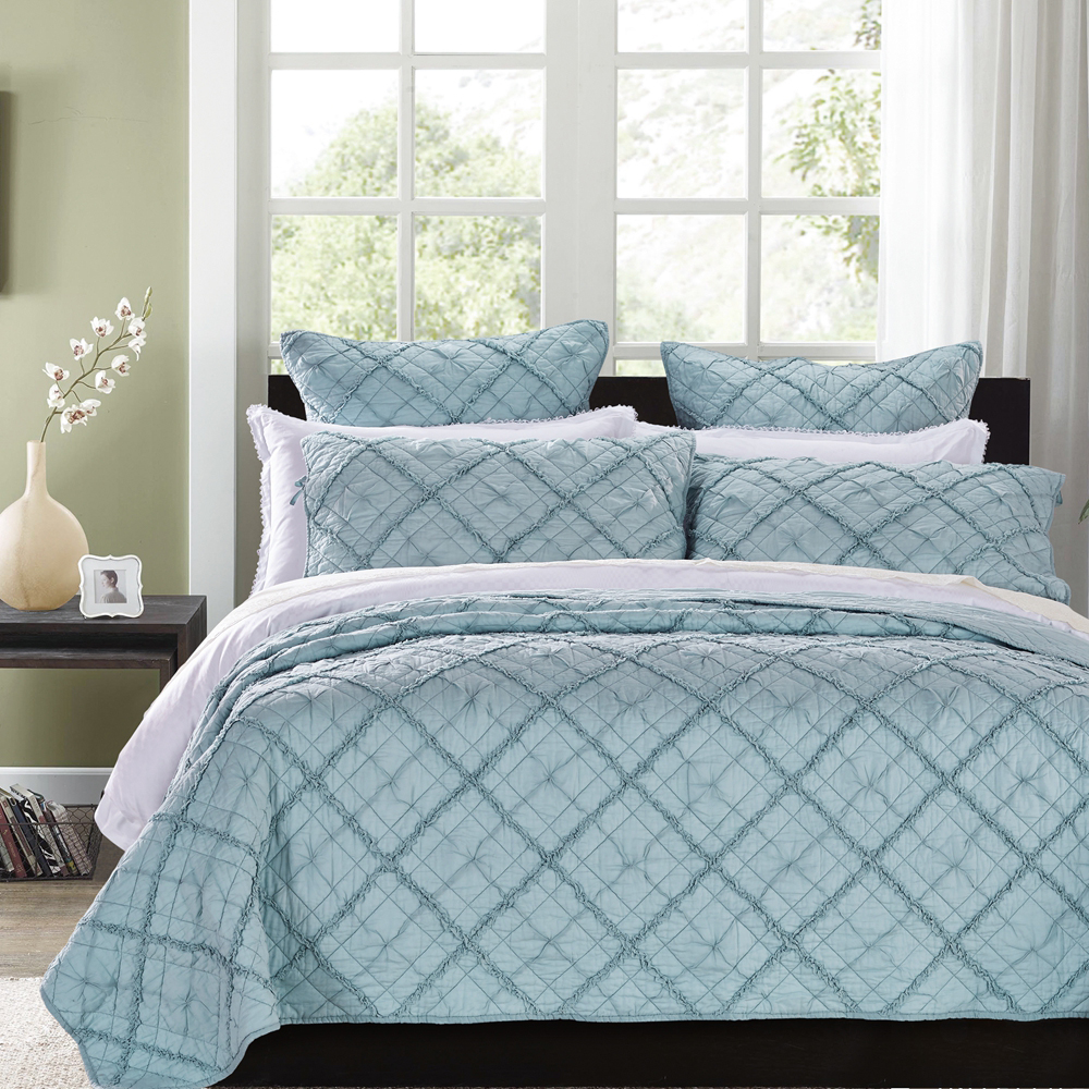 Diamond Applique Pacific Blue by Calla Angel Quilts