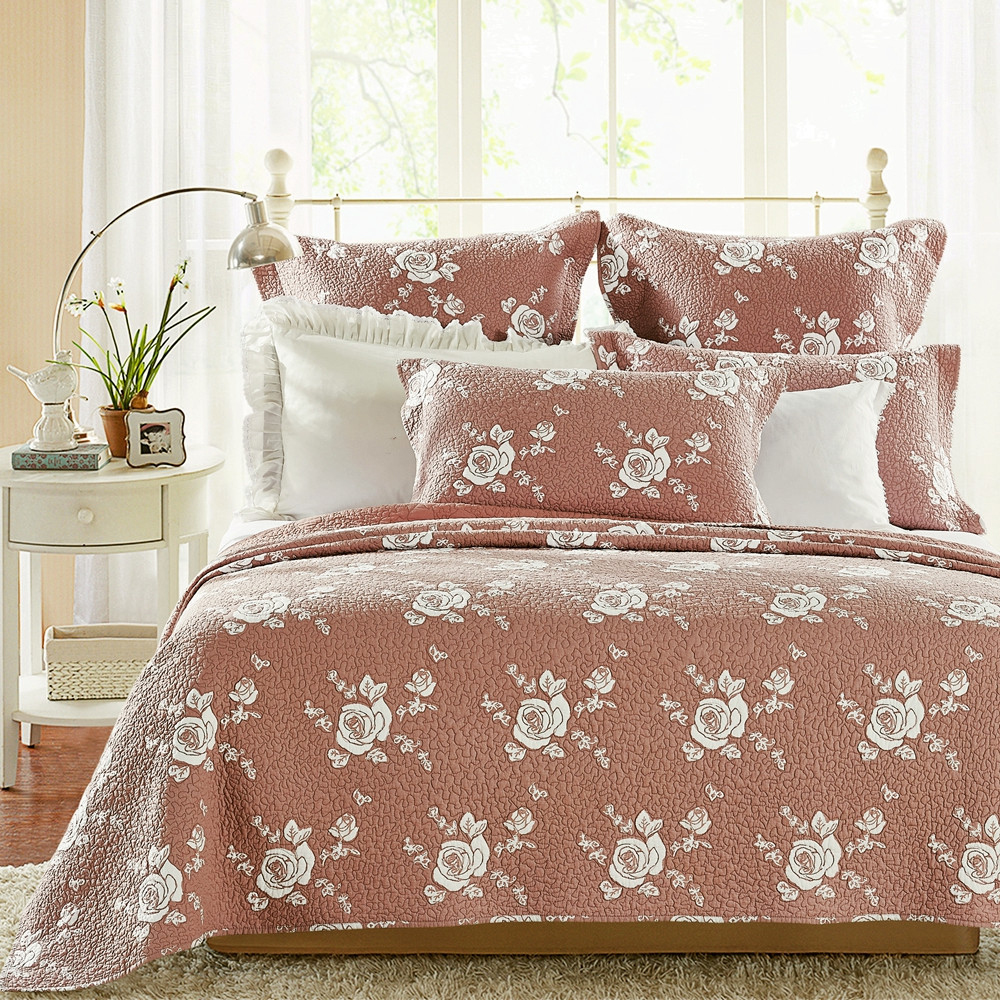 Rose Melody Marsala by Calla Angel Quilts