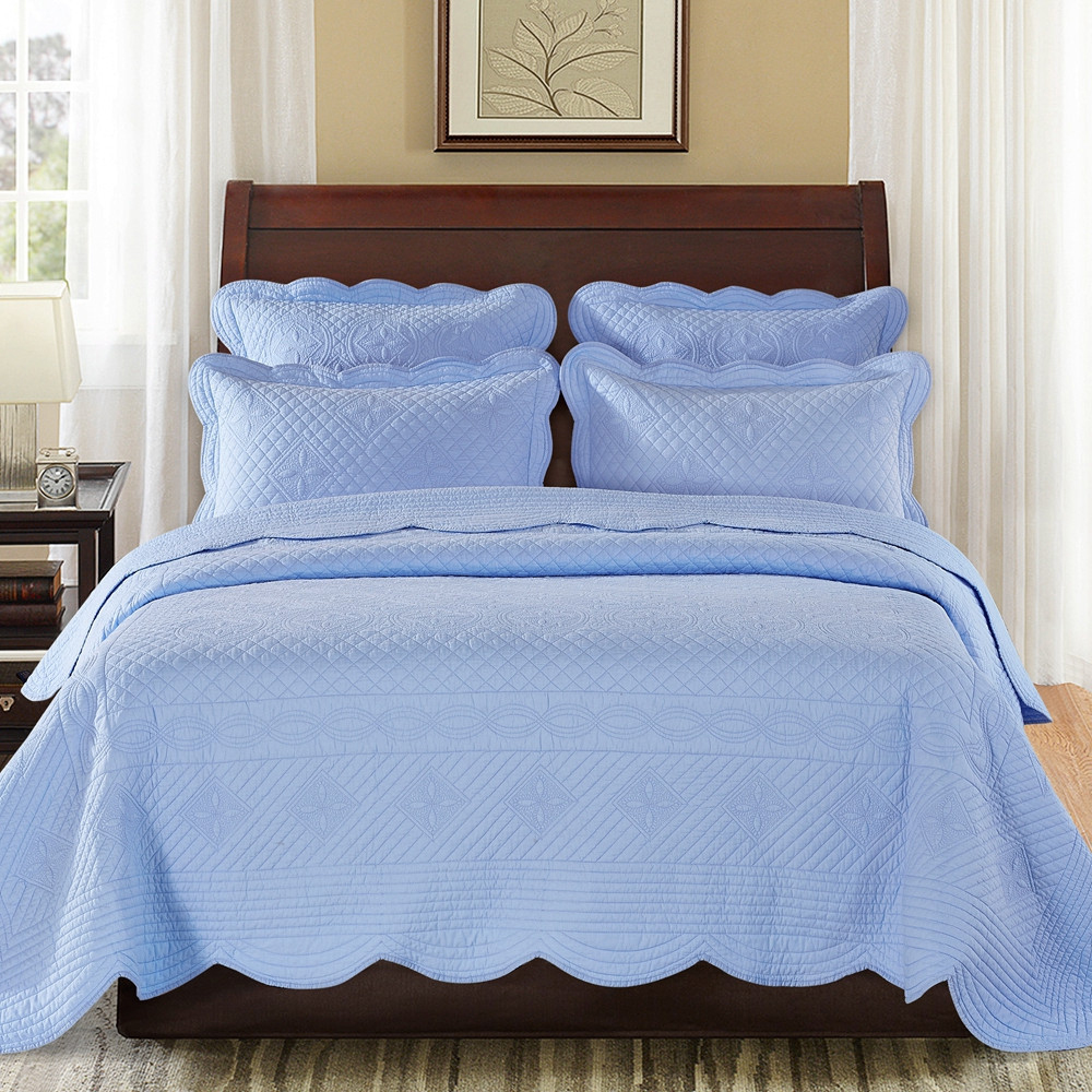 Sage Garden Light Blue By Calla Angel Quilts