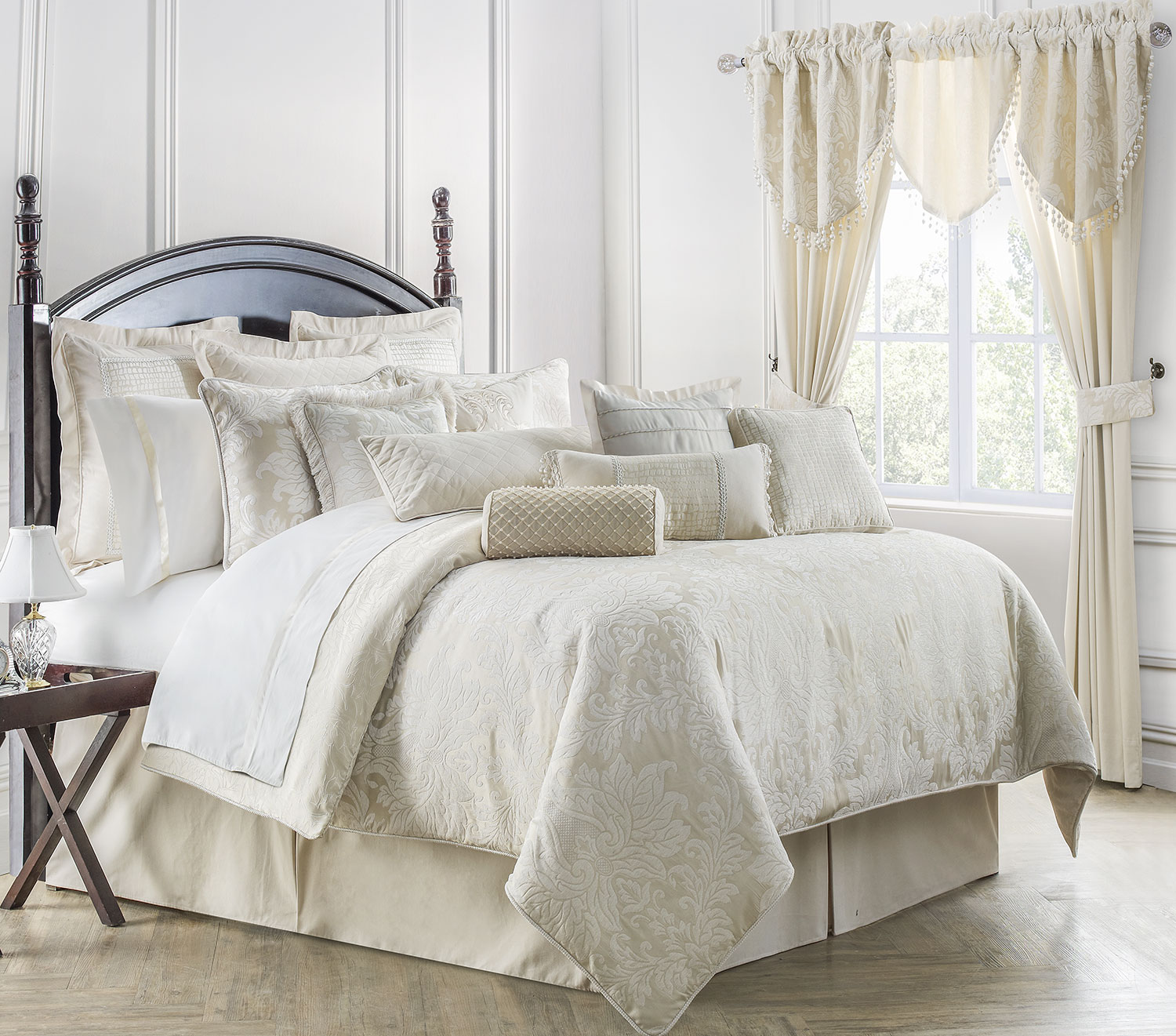 Paloma Ivory By Waterford Luxury Bedding